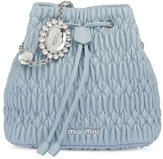 Miu Miu Crystal-Embellished Bucket Bag