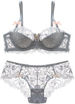 URqueen Womens Lace Underwire Bra Set Push Up Bra Outfit
