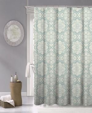 "Dainty Home Medallion Fabric Shower Curtain, 70"" x 72"" Bedding"