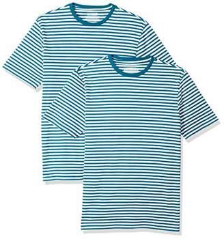 Amazon Essentials Slim-Fit Short-Sleeve Stripe Crewneck T-Shirts (Pack of 2) XXL