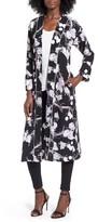 Topshop Women's Floral Kimono Duster Jacket