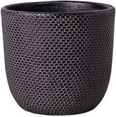 Mr Greengrass Tweed Pot, Black