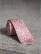 Burberry Slim Cut Ripple Print Silk Tie