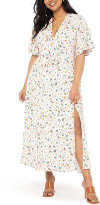 ELOQUII Flutter Sleeve Dress