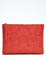 Banana Republic Lasercut Floral Large Zip Pouch