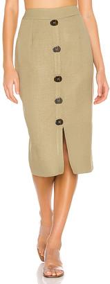 PatBO Linen Pencil Skirt