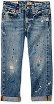Ralph Lauren 2-6X Paint-Splattered Skinny Jean