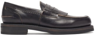 Our Legacy Distressed Penny Loafers - Black
