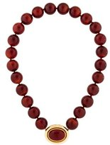Elizabeth Locke 18K Carnelian Beaded Necklace