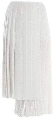Fendi Women's Drops Kimono Print Asymmetric Midi Skirt