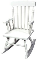 Gift Mark Kids' Colonial Rocking Chair - White
