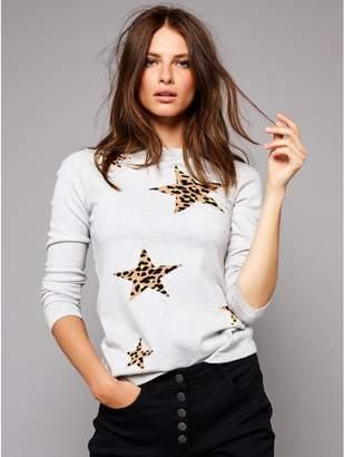 M&Co Petite leopard print star jumper