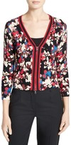 Tracy Reese Floral Print Cotton Cardigan
