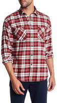 James Campbell Anju Plaid Long Sleeve Regular Fit Shirt