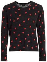 Monrow Heart Long-Sleeve T-Shirt