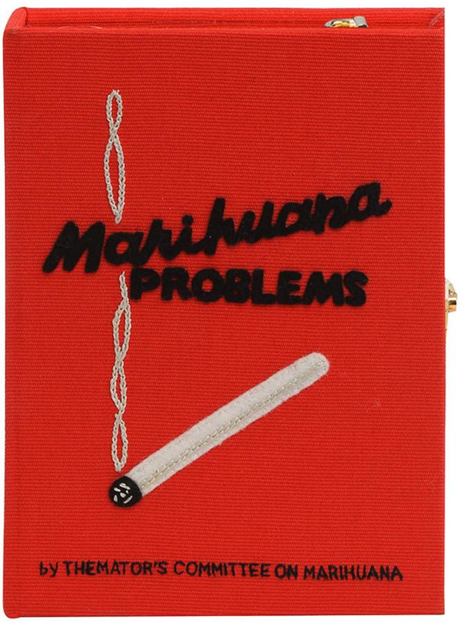 Olympia Le-Tan Marihuana Problems Book Clutch Bag