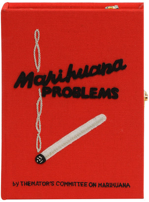 Olympia Le-Tan Marihuana Problems Book Clutch Bag
