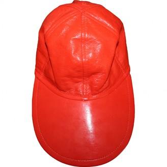 Courrã ̈Ges CourrAges Orange Synthetic Hats