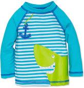 Little Me Striped Shark Rashguard Swim Top, Baby Boys (0-24 months)