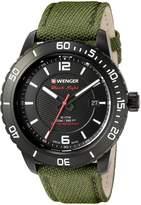 Wenger Men's 01.0851.125 Roadster Analog Display Swiss Quartz Green Watch