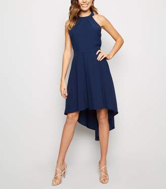 New Look Mela Halterneck Dip Hem Dress