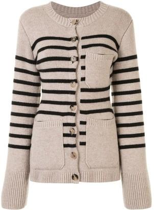 KHAITE Suzette stripe cardigan