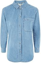 Topshop PETITE Denim Oversized Shirt