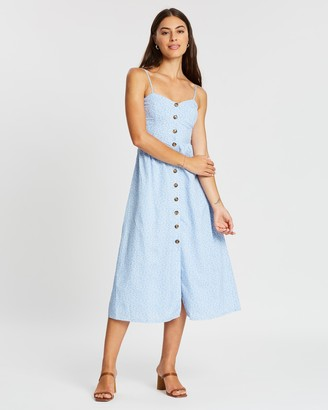 Atmos & Here Stella Button-Through Midi Dress