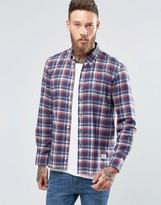 Penfield Redwater Check Button Shirt In Regular Fit Brushed Cotton