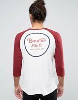 Brixton Wheeler Raglan 3/4 Sleeve T-shirt With Logo Back Print