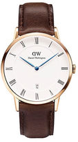 Daniel Wellington Dapper Bristol Rose Gold and Leather Strap Watch, 38mm