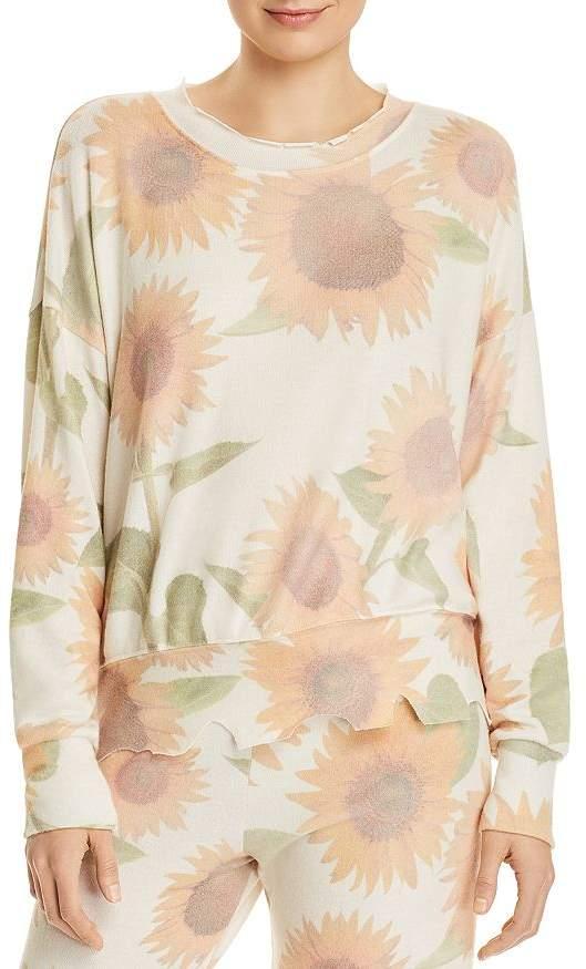 LnA Duncan Brushed Sunflower Print Sweatshirt