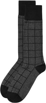 Alfani AlfaTech by Men Windowpane-Plaid Dress Socks