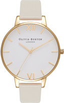 Olivia Burton OB16BDV03 Big Dial gold-plated and vegan-friendly faux-leather watch