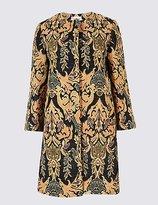 Per Una Cotton Rich Jacquard Print Coat