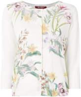 Max Mara floral cropped sleeve cardigan