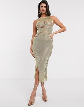 NEVER FULLY DRESSED Evissa mesh maxi dress