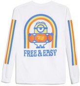 Hanes Free&easy Minion Skateboard Long Sleeve T-Shirt