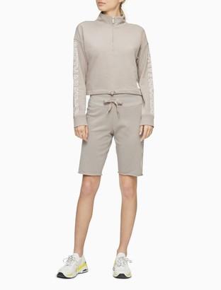 Calvin Klein Performance Logo 1/4 Zip Cropped Pullover