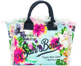 Mc2 Saint Barth Kids floral print beach bag