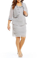 Le Bos Plus Embroidered Tiered Jacket Dress