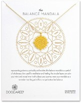 Dogeared Women's The Balance Mandala Pendant Necklace