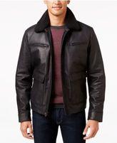 MICHAEL Michael Kors Big & Tall Faux-Sherpa Leather Jacket