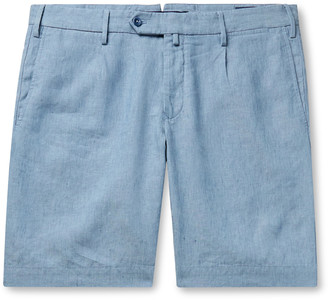 Incotex Linen-Chambray Bermuda Shorts