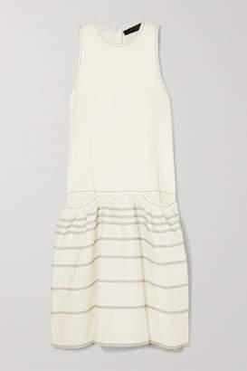 Proenza Schouler Belted Tiered Denim Midi Dress - White