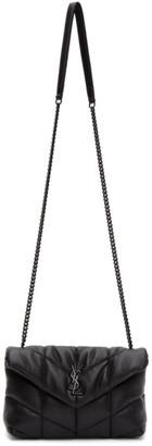 Saint Laurent Black Toy Loulou Puffer Bag