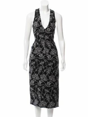 Prabal Gurung Embroidered Sheath Dress Black