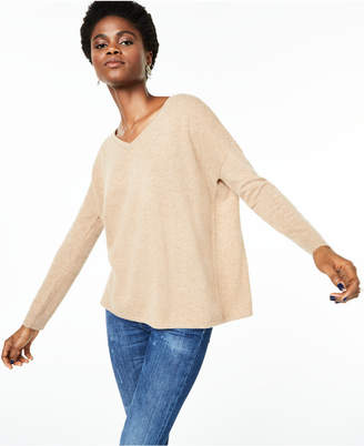 Charter Club V-Neck Pure Cashmere Sweater, Regular & Petite Sizes
