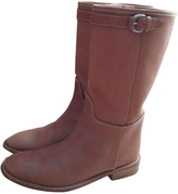 Max Mara Brown Leather Boots