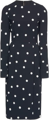 Dolce & Gabbana Crazy For Sicily Polka-Dot Crepe Midi Dress